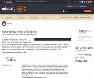 Otras publicaciones de la autora (Educarchile)
