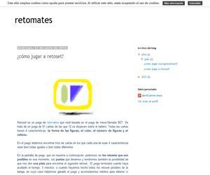 Retoset: juego de percepción visual de retomates