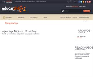 Agencia publicitaria: El briefing (Educarchile)