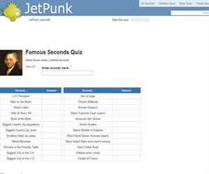 Famous Seconds Quiz