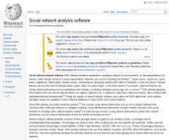 Social network analysis software - Wikipedia, the free encyclopedia