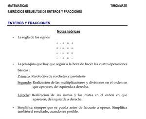 Ejercicios resueltos de números enteros y fracciones (Juan J. Pascual Redondo)