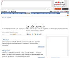 'Las más buscadas': las 10 webs emergentes en 2010 según Google (ElPais.com, 27-12-2009)