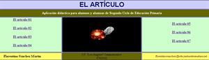 Ejercicios con artículos. Florentino Sánchez