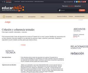 Cohesión y coherencia textuales (Educarchile)