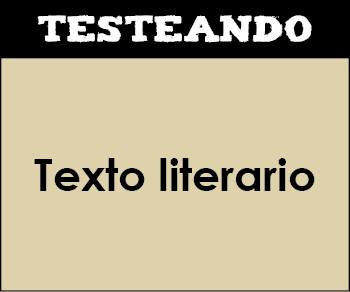 Texto literario. 4º Primaria - Lengua (Testeando)