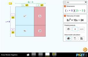 Modelo de Áreas: Álgebra