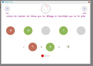 Integer Rain: juego de operaciones combinadas con enteros