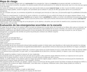 Evaluación de las emergencias ocurridas en la escuela