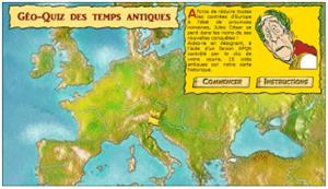 Le Géo-Quiz des tems antiques. Aprende historia y francés con Astérix