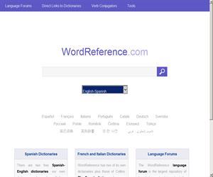 WordReference.com: diccionario online inglés-español, francés, italiano, alemán