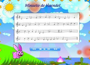 Minueto de Haendel para practicar Flauta