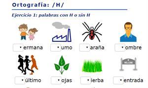 Ejercicios de ortografía: con o sin H