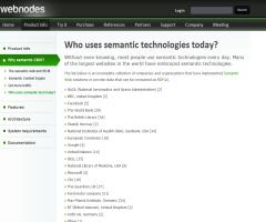 Who uses semantic technologies today?