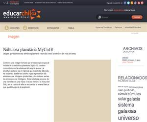Nebulosa planetaria MyCn18 (Educarchile)