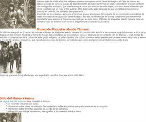 Un museo sobre los yámana en la Web