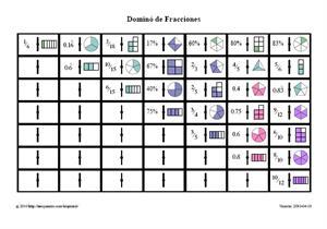 Dominó de Fracciones Imprimible (neoparaiso.com)