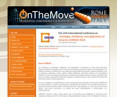 The 11th International Conference on Ontologies, DataBases, and Applications of Semantics (ODBASE 2012)