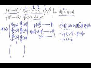 Regla de la cadena - Varias variables