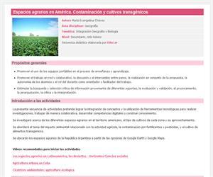 Espacios agrarios en América. Contaminación y cultivos transgénicos