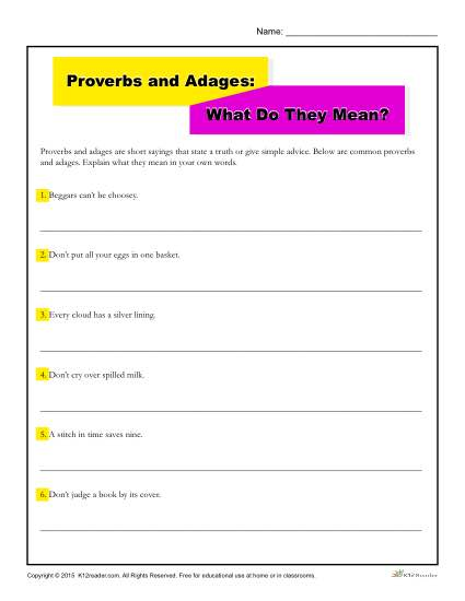 Proverbs and Adages: What Do They Mean?