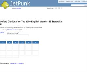 Oxford Dictionaries Top 1000 English Words - 33 Start with H