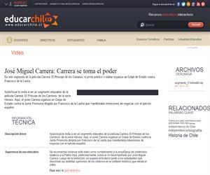 José Miguel Carrera: Carrera se toma el poder (Educarchile)