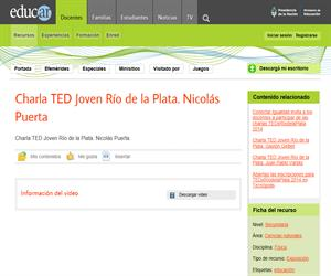 Charla TED Joven Rio de la Plata. Nicolas Puerta.