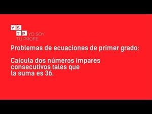 Problemas de ecuaciones de primer grado V #matemáticas