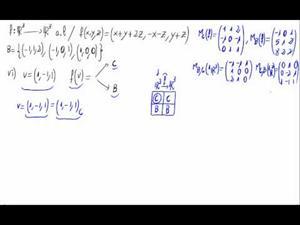 Aplicaciones lineales - Imágenes respecto de bases