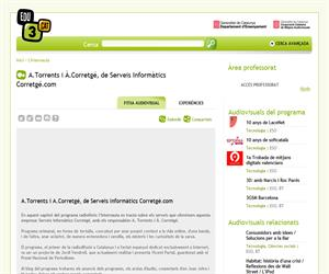 A.Torrents i À.Corretgé, de Serveis Informàtics Corretgé.com (Edu3.cat)