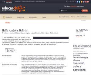 Habla América. Bolivia 1 (Educarchile)