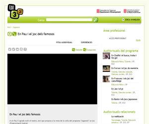 En Pau i el joc dels famosos (Edu3.cat)