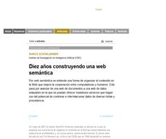 Diez años construyendo una web semántica