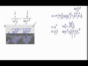 Reducir fracciones con letras a común denominador
