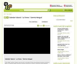Calendari laboral / La Sirena / Gemma Mengual (Edu3.cat)