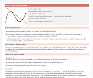 Aplicación de derivadas I