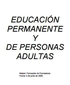 Educación permanente y de personas adultas