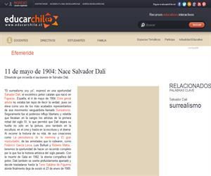 Efeméride natalicio de Salvador Dalí (Educarchile)