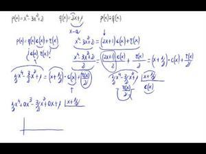 División de polinomios. (Ruffini)