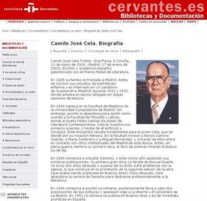 Camilo José Cela. Biografía