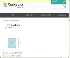 El cuadrado: área y perímetro (sangakoo)