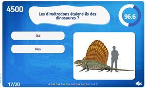 Quiz: Les dinosaures. Juego interactivo sobre dinosaurios (jeux-historiques.com)