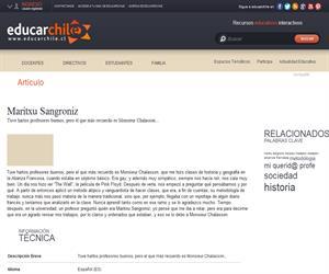 Mi querid@ profe: Maritxu Sangroniz (Educarchile)