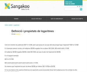 Definició i propietats de logaritmes