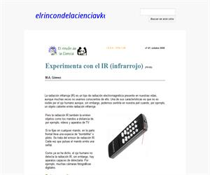 Experimenta con el IR (infrarrojo)