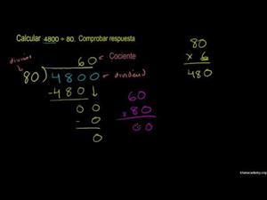 División de números enteros y aplicaciones - Parte 5 (Khan Academy Español)