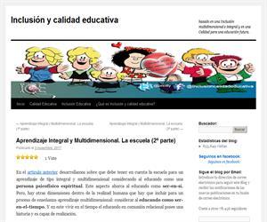 Aprendizaje Integral y Multidimensional. La escuela (2º parte)
