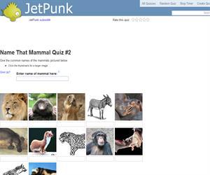 Name That Mammal Quiz 2