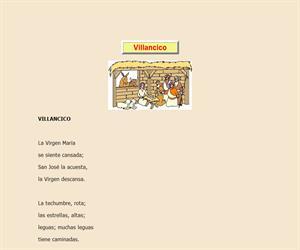 Villancico, lectura comprensiva interactiva